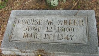 A photo of Louise W. Greer