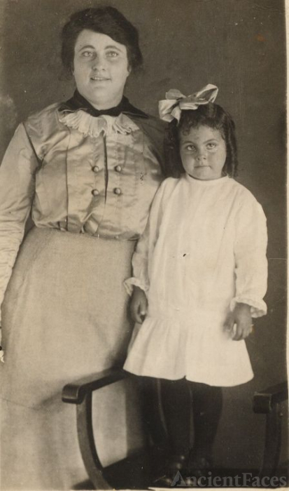 Mrs Singleton and daughter Ethel