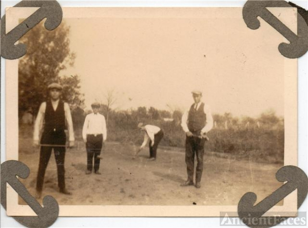 Croquet Players in Tyro, Kansas