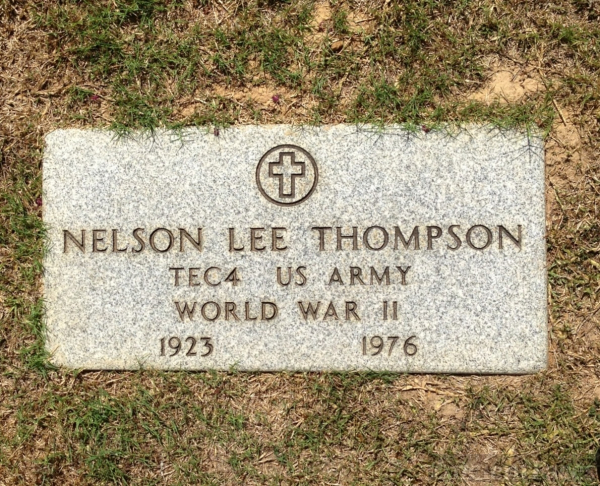 Nelson Lee Thompson Headstone, Texas