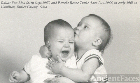Baby Photo of Dallas and Pam