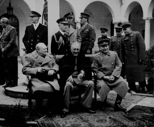 Winston S. Churchill, Franklin D. Roosevelt, and Josef Stalin