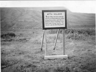 Attu Villiage Sign