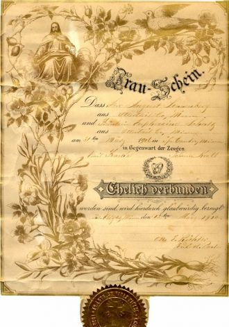Sonnenberg-Schultz Marriage Certificate