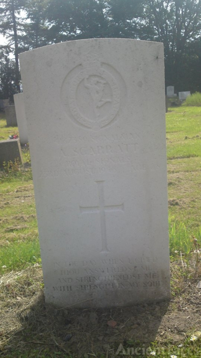 The Grave Of Albert Charles Scarratt