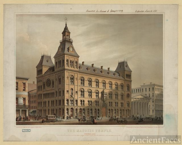 The Masonic Temple, Cincinnati, Ohio / lithographed &...