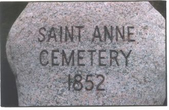 St. Anne's Cemetery, Illinois 1852