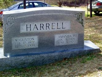 Guston and Amanda Harrell headstone