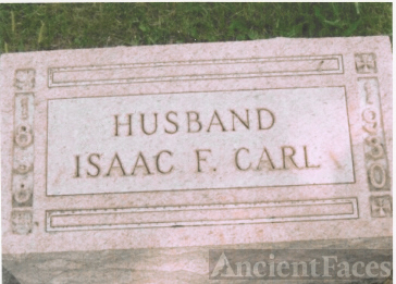 The Tombstone of Isaac F. Carl (29 Aug 1858-1930)
