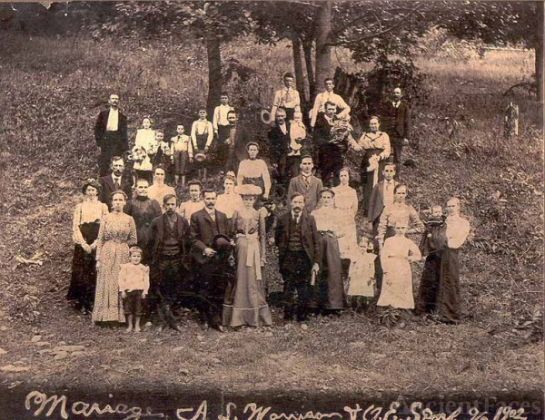 Wedding of Lee Morrison to Ethel Scarff