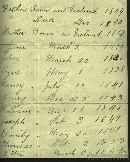 List of a Stanley Family