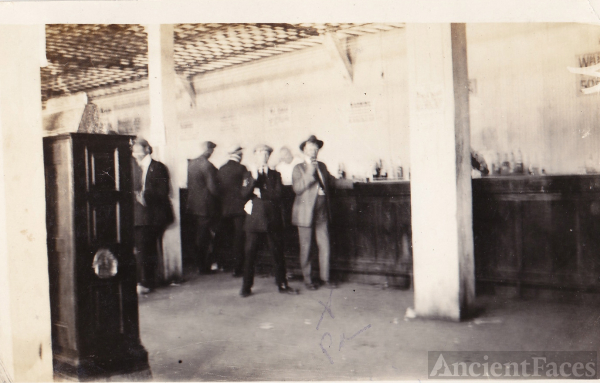 Men drinking in Saloon