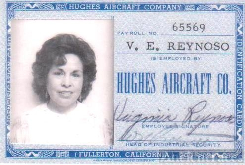 Virginia Espinoza, Hughes Aircraft California