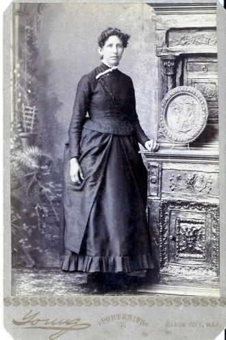 A photo of Grandmother Clara Miller