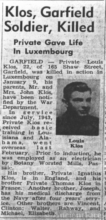 Louis Klos Obituary