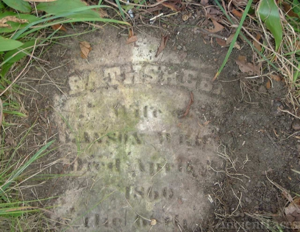 Bathsheba Wright Headstone