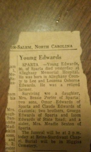 Young Edwards obituary
