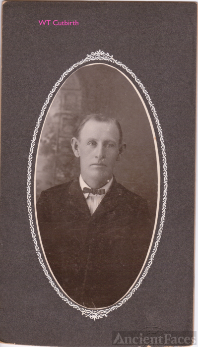 William Thomas Cutbirth, 1908