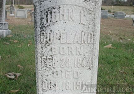 headstone of John Lewis Copeland