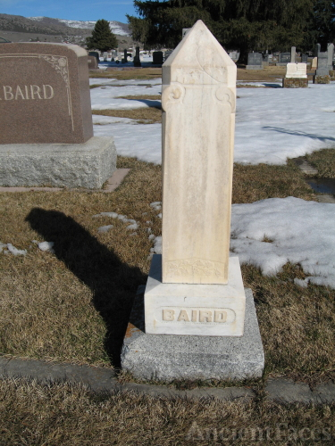 Headstone for John and Elizabeth Baird