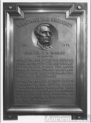 Statues and sculpture. S.F.B. Morse plaque