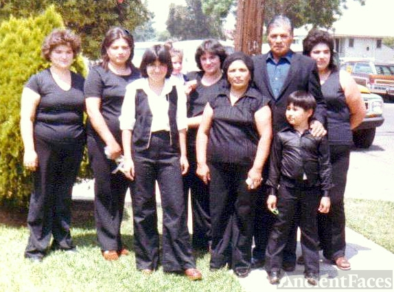 Ambrosio Curiel & family, California