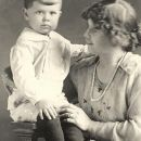 Keith Dailey with his mother