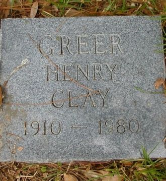 Henry Clay Greer gravestone