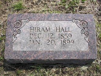 A photo of Hiram Hall Grave