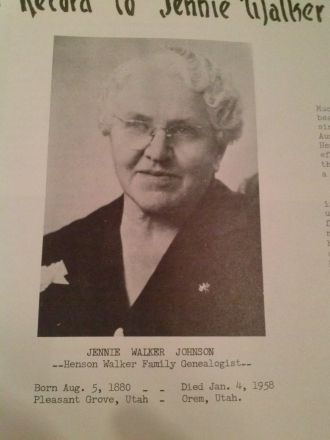 Jennie (Walker) Johnson, Utah