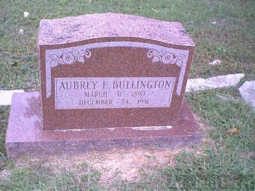 Gravesite of Aubrey Easoner Bullington