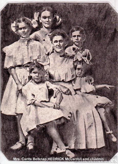 Carita Belknap HEDRICK McCarroll and Children