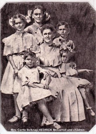 A photo of Mrs. W. F. McCarroll and Children