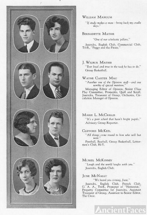 Peoria High School Class of 1930