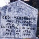 George and Lucretia Yarbrough Tomb Stone