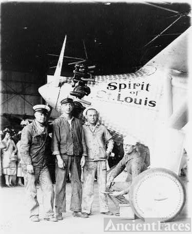 "The ""Spirit of St. Louis"", Col. Lindbergh's famous plane"