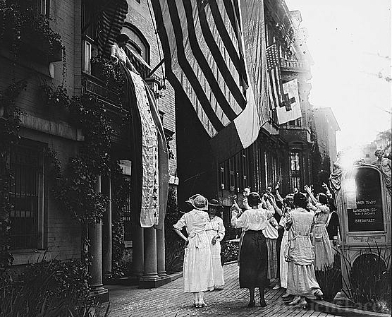 Raising the Suffrage banner in the ratification of terms
