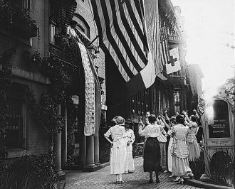 Raising the Suffrage banner