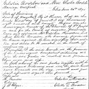 Marriage License of Celestin Bordelon and Eliska Bordelon 1870