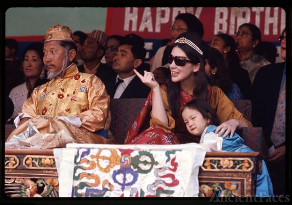 [King and Queen of Sikkim and their daughter Hope Leezum...