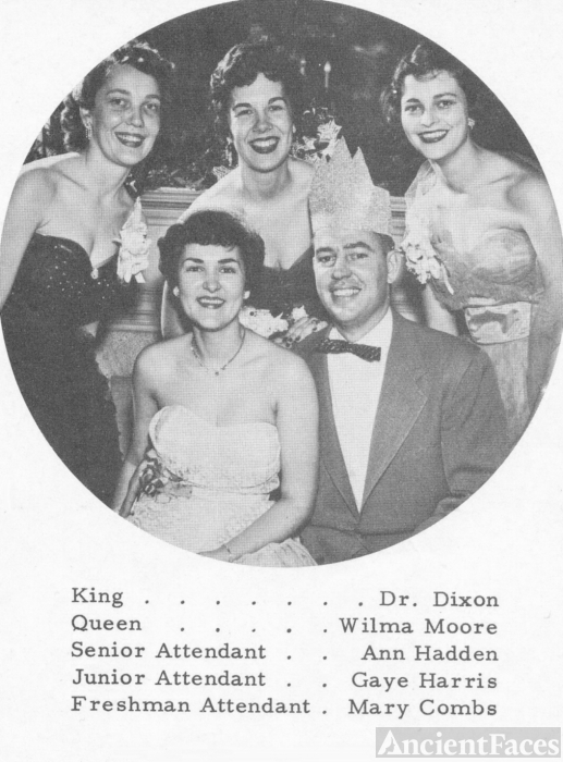 Dr. Dixon at Hospital Christmas Dance, KY, 1955