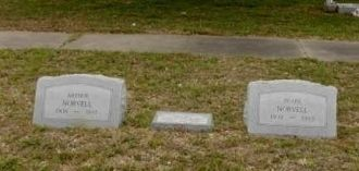 Arthur,baby and Pearl Norvell's Headstones