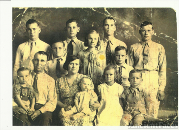 Nicholas and Annie Adams family