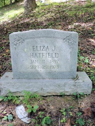 Eliza (Bradbury) Hatfield Grave, West Virginia