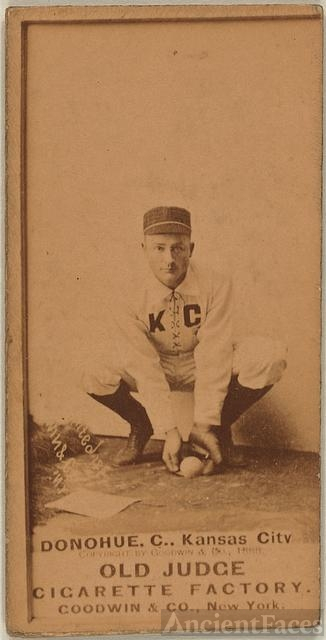 [Donahue, Kansas City Cowboys, baseball card portrait]
