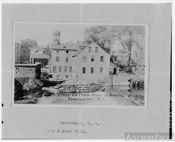 63. POSTCARD. 'FIRST COTTON MILL IN AMERICA, PAWTUCKET,...