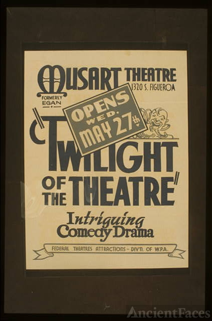 """Twilight of the theatre"" Intriguing comedy drama."