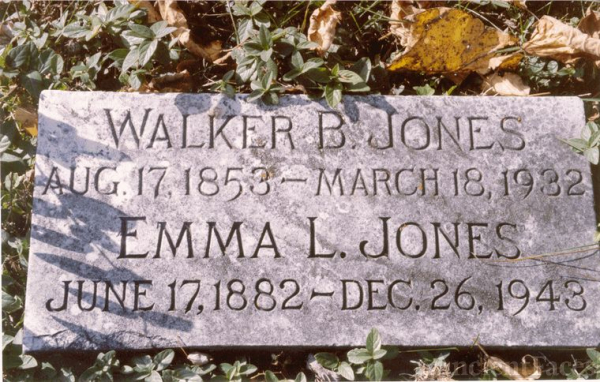 Gravemarker - Walker B. and Emma L. Jones