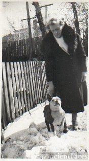 Mary Anne Peacock & Boston Terrier