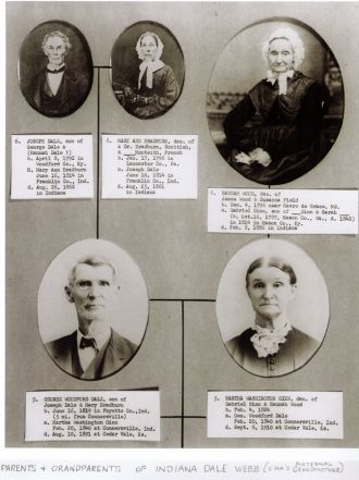 Indiana Dale's parents, grandparents